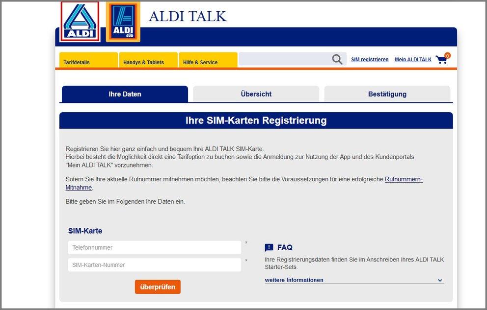 aldi talk karte gesperrt Aldi Talk: Ersatz SIM Karte freischalten