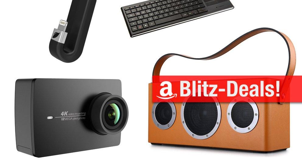 Blitzangebote: AirPlay-Lautsprecher, 4K-Action-Cam, Akku u.v.m. heute günstiger