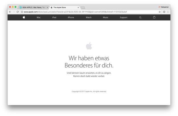 Apple Online Store: Wartung könnte Hinweis auf neue Produkte sein (Update)