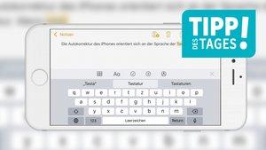 Sprache der Autokorrektur von iPhone & iPad umstellen (Mini-Tipp)