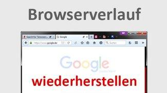 Browserverlauf wiederherstellen – so geht's