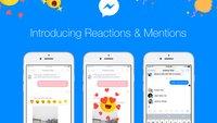 """Facebook Messenger jetzt mit Reaktionen und """"@-Mentions"""""""