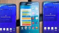 Seite an Seite: Galaxy S8, Galaxy S8 Plus und Note 7 im Größenvergleich