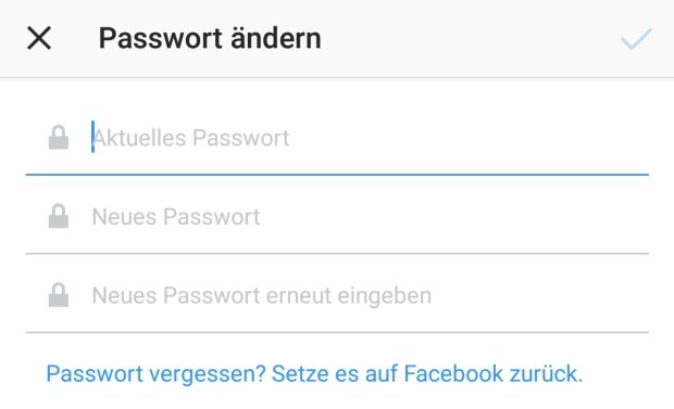 instagram-passwort-aendern