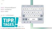 iPad: Neue versteckte Tastaturkonfiguration in Swift Playground ausprobieren