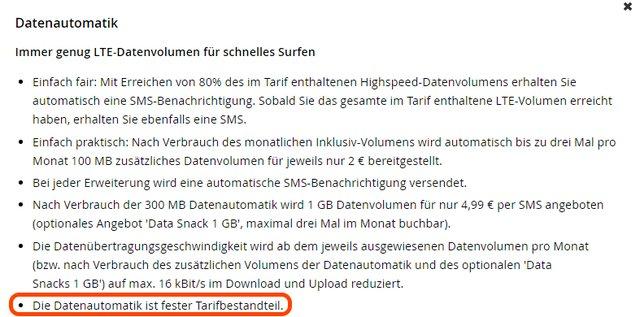"""Kleingedrucktes auf der WinSIM-Website: """"Fester Tarifbestandteil"""" bedeutet, dass die Datenautomatik nicht abgeschaltet werden kann."""