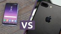 iPhone 7 Plus, Samsung Galaxy S8 und S8 Plus im Video-Vergleich