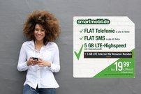 smartmobil XXL für 20 € pro Monat bei Amazon – 10 GB LTE, Allnet-/SMS-Flat