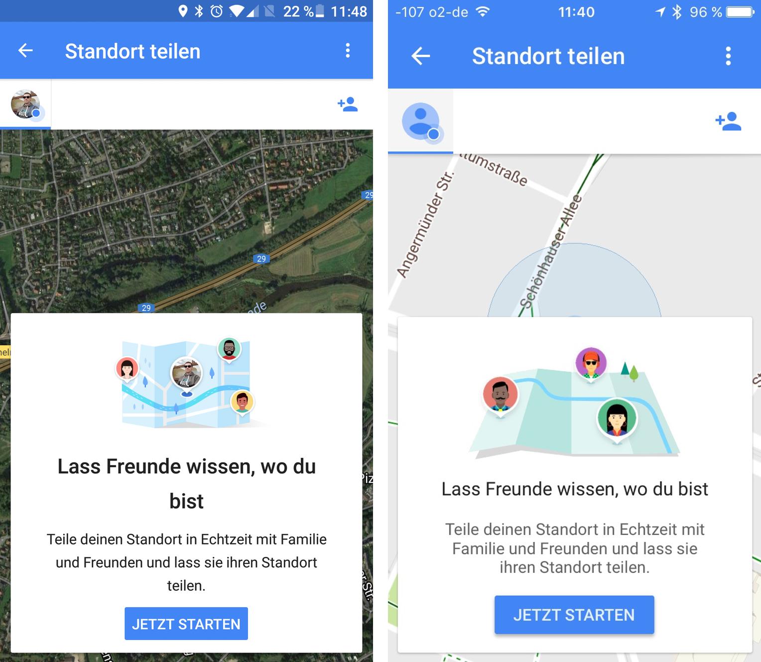 android app freunde orten