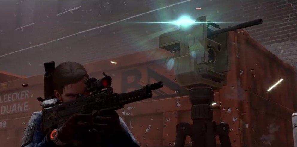 Der Geschützturm unterstützt euch gegen feindliche NPCs und gegnerische Spieler.
