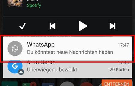 Whatsapp kontrolliere neue nachrichten ausschalten