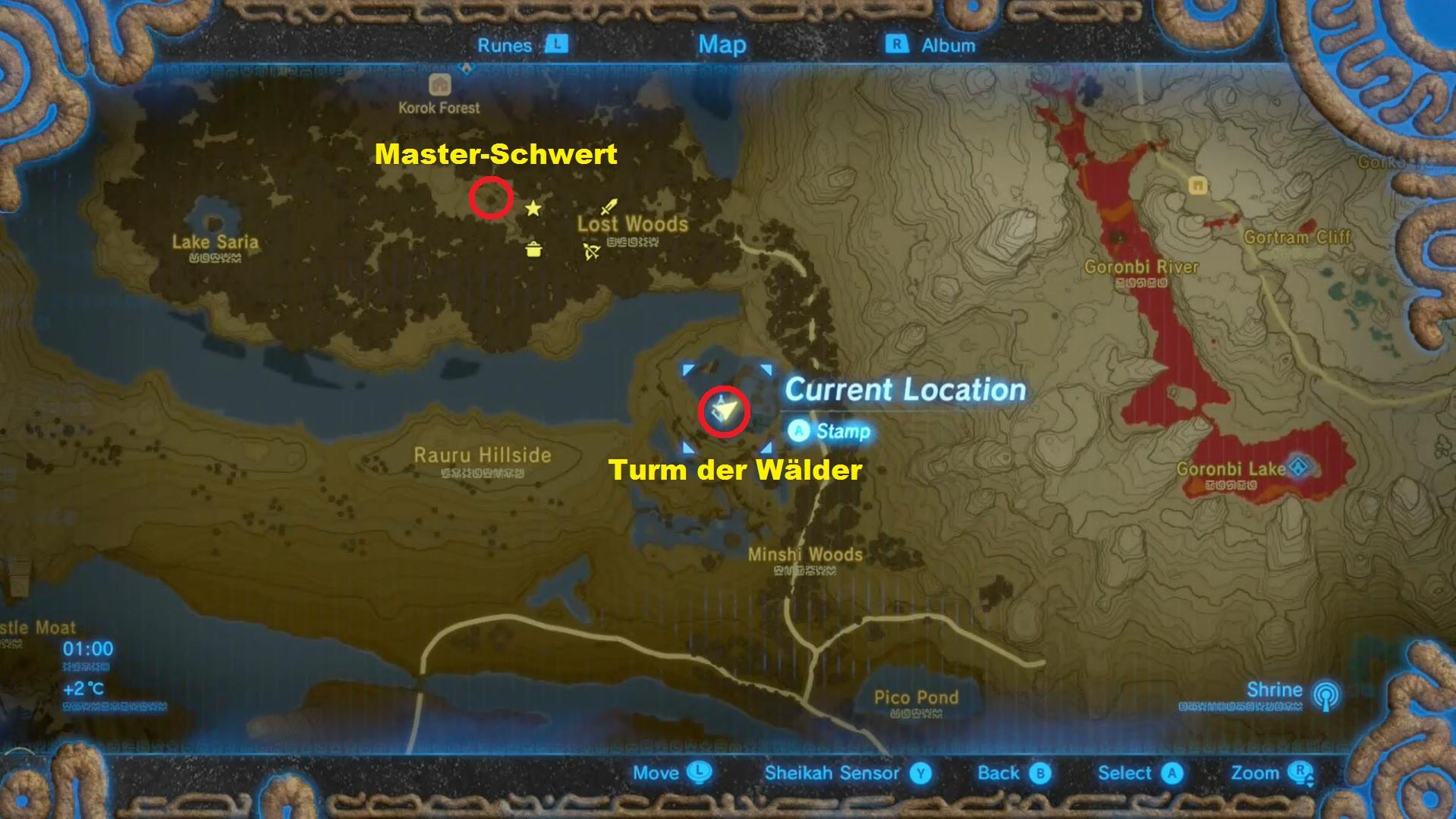 Zelda Krog Karte.Zelda Breath Of The Wild Master Schwert Fundort Im Video