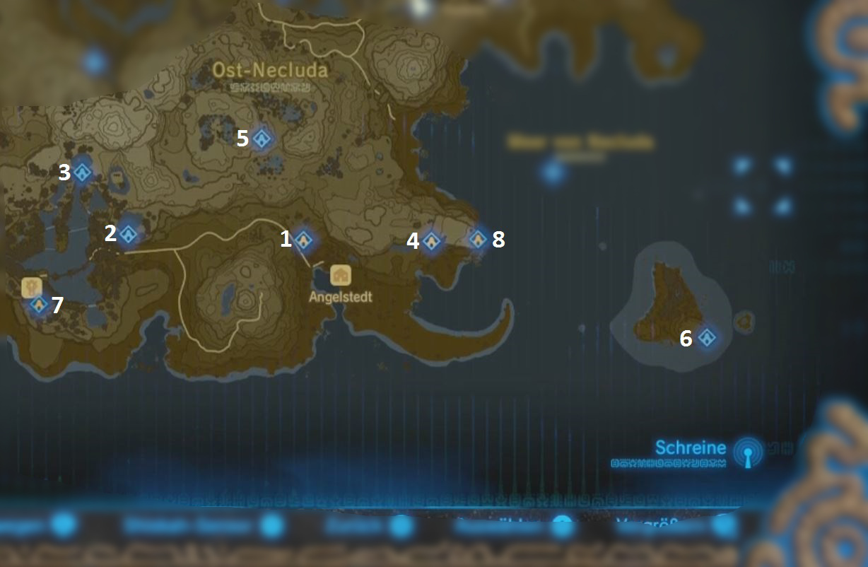 breath of the wild schreine karte Zelda – Breath of the Wild: Fundorte aller Schreine mit