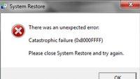 Lösung: 0x8000ffff (E_UNEXPTECTED) bei Systemwiederherstellung & Update