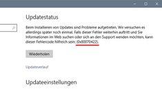 Lösung: 0x80070422 – Fehler bei Update-Suche
