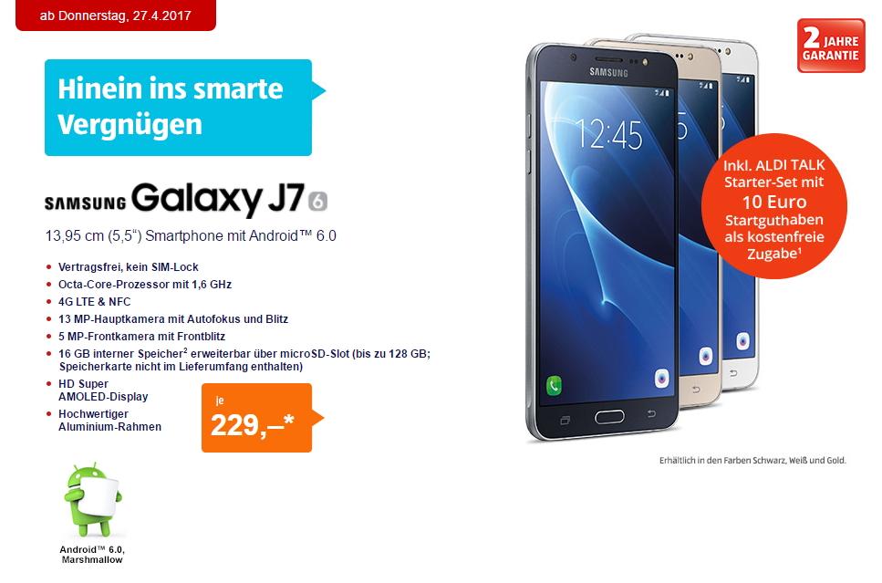aldi handy samsung galaxy j7 2016 ab heute f r 229 euro
