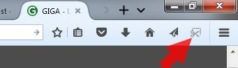 Firefox Screenshot-Tool Symbol