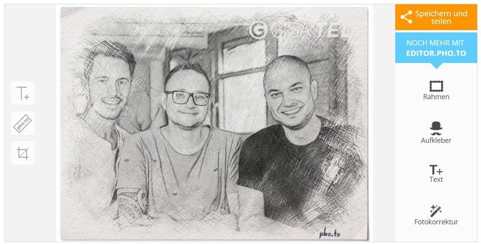 Foto in Zeichnung umwandeln1