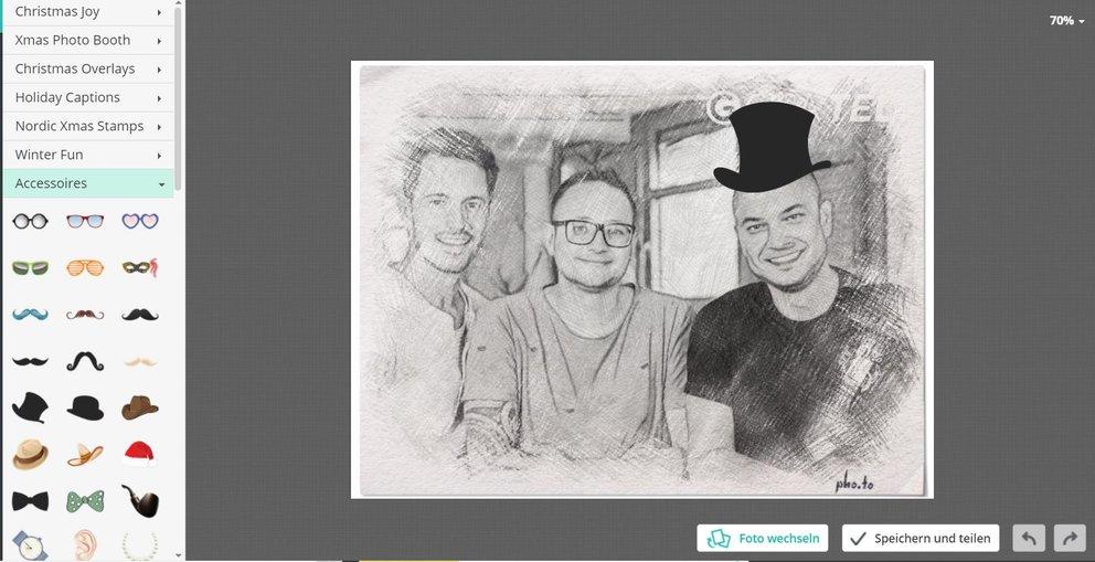 Foto in Zeichnung_Deko