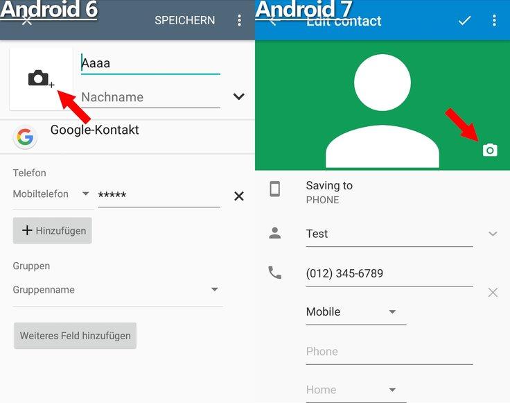 Kontaktbilder Kamera Plus Symbol Android 6 7