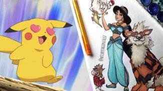 So sieht es aus, wenn Disney-Prinzessinnen auf Pokémon treffen