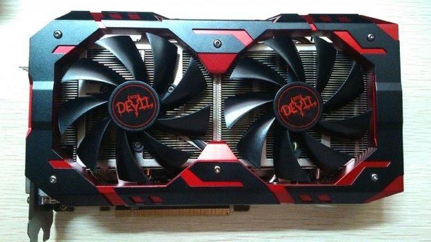 Radeon RX 580: Red Devil GS von PowerColor mit zwei Stromanschlüssen auf ersten Fotos