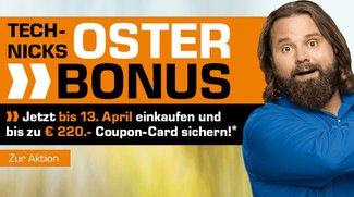Saturn Oster-Bonus-Aktion: Bis zu 220 € als Coupon-Card erhalten