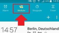 Weltuhr auf Android-Smartphones und iOS anzeigen