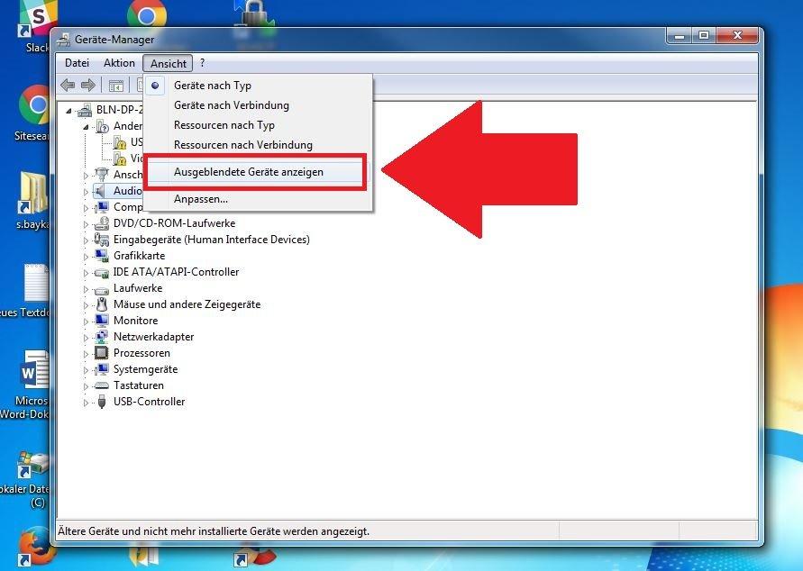 Windows Treiber anzeigen