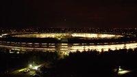 Apple Park: Nachtaufnahmen erlauben Blick ins Innere