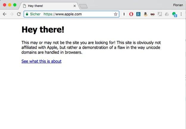 "Unicode als Phishing-Risiko: Warum ""apple.com"" nicht gleich ""apple.com"" ist"
