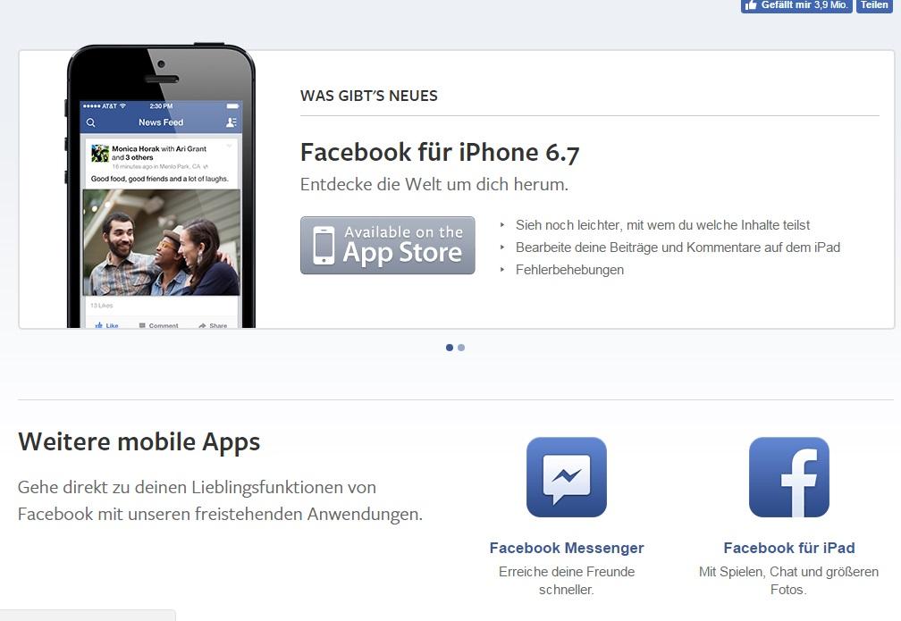 öffne Die Facebook App