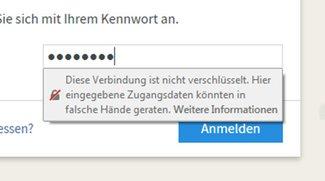 """Was bedeutet """"Diese Verbindung ist nicht sicher"""" in Firefox? Ignorieren oder nicht?"""