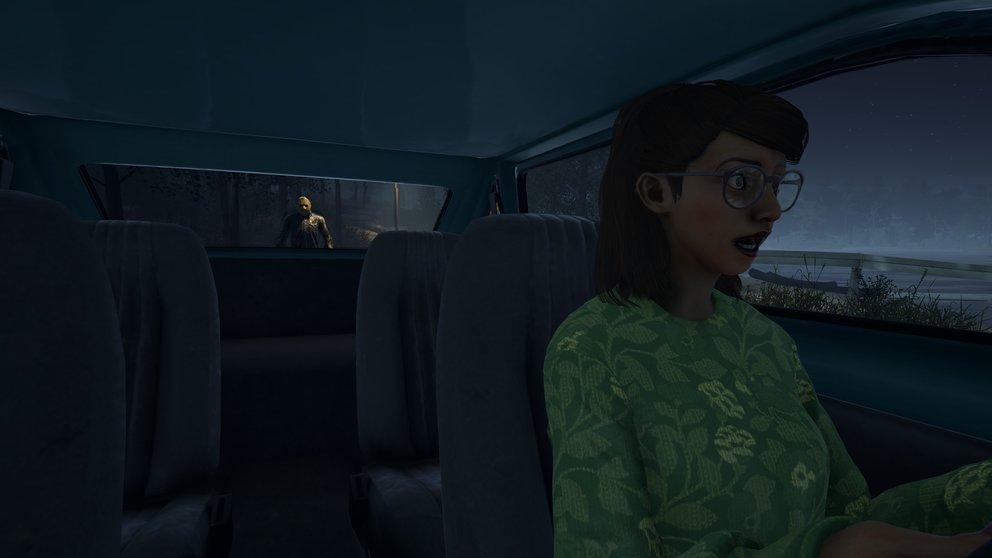 Habt ihr das Auto startklar gemacht, könnt ihr auch andere Teammitglieder mitnehmen. Aber Vorsicht! Jason kann euch immer noch stoppen und sich vor das Auto stellen.