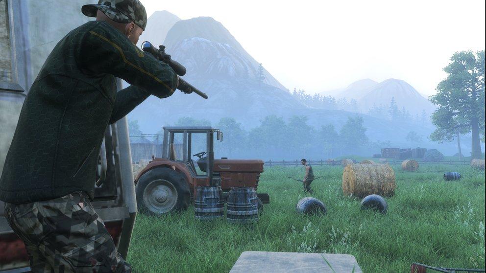 Mit Pfeil und Bogen oder doch mit einer Sniper unterwegs sein - H1Z1 bietet euch eine Menge Waffen.