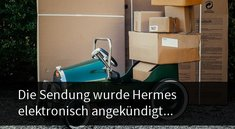 Die Sendung wurde Hermes elektronisch angekündigt – und nun?