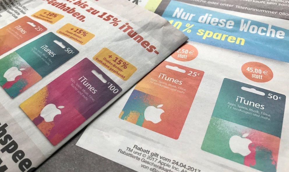 """""""App Store & iTunes""""-Karten mit Rabatt im April: Hier gibts 20 Euro Bonus"""