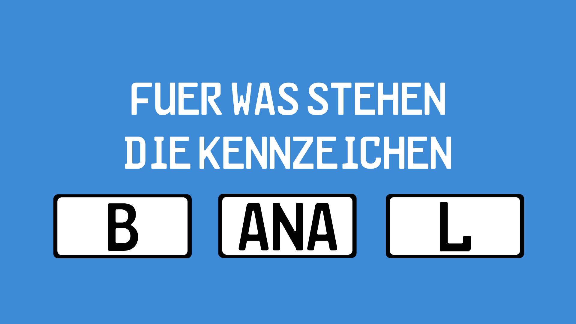 Kfz Kennzeichen Liste Der Nummernschilder In Deutschland Giga