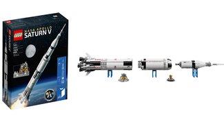 Lego präsentiert Modell der Saturn V Rakete mit Raumfähre