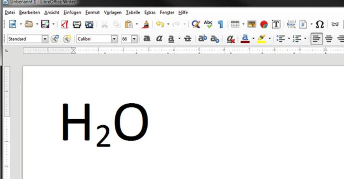 Tiefgestellte Zahlen In Word Libreoffice Schreiben So Gehts Giga