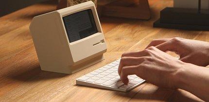 Ständer für iPhone 7 und Co. im Mac-Design: Neues aus der Retro-Kiste