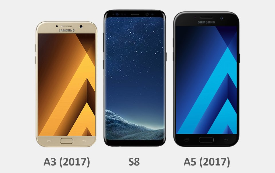Das Galaxy A3 ist von den Außenmaßen ein Mini-Smartphone des S8.