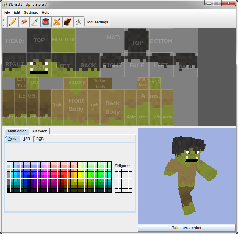 Minecraft SkinEdit Download Kostenlos GIGA - Skins fur minecraft selber erstellen