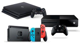 PS4 vs. Xbox One vs. Nintendo Switch: So gut verkaufen sich aktuelle Konsolen