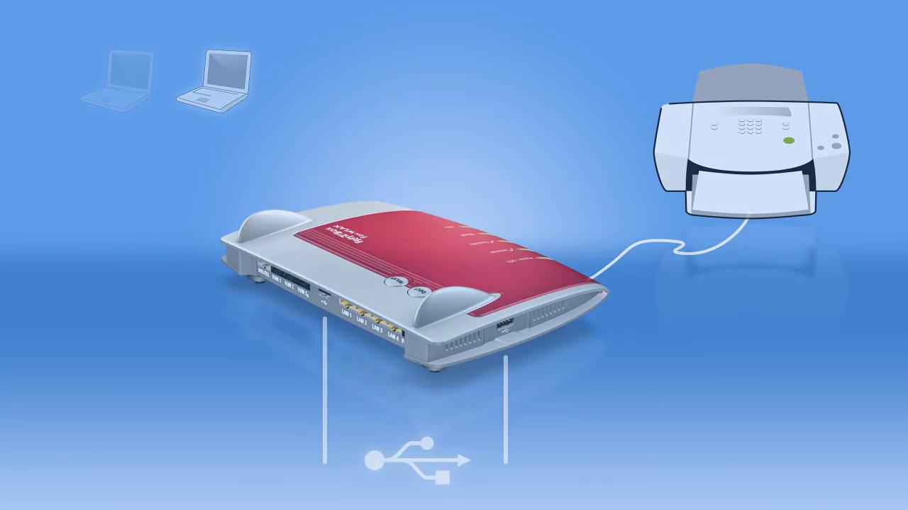 Fritzbox mit Drucker verbinden (AVM)