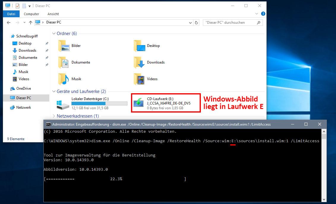 Lösung: 0x800f081f-Fehler bei Windows-Update und  NET