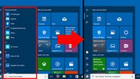 Windows 10: Programm- & App-Liste im Startmenü ausblenden