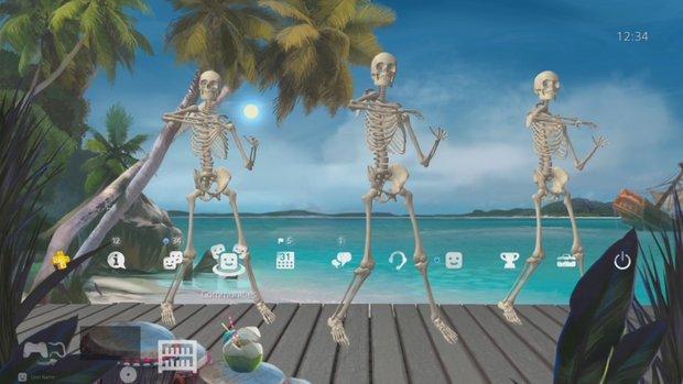 Skeleton Dance-Nachfolger und zwei weitere verrückte Themes für Deine PS4