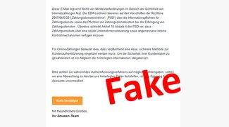 Amazon: Neues Authentifizierungsverfahren – Vorsicht, Falle!