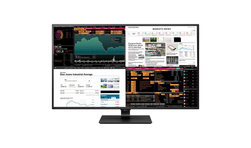 LG 43UD79-B: Dieser 42,5-Zoll-UHD-Monitor unterstützt vier Bildsignale gleichzeitig